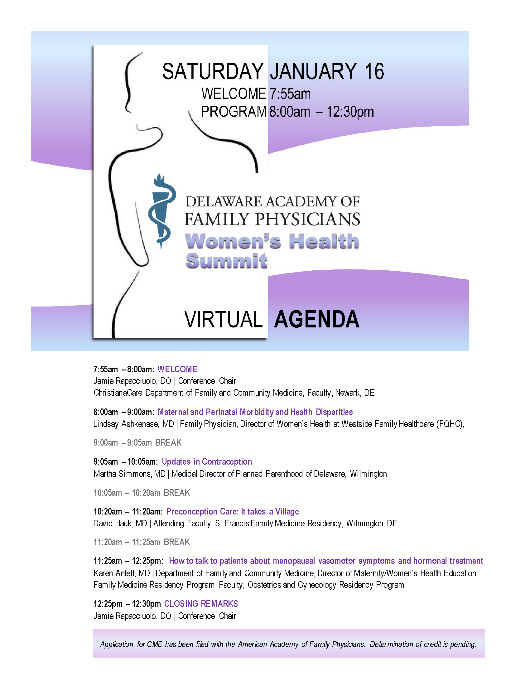 CLICK TO VIEW LARGER VERSION OF THIS AGENDA